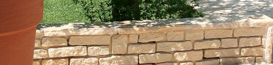 muros em pedra natural reconstituída Traverti - Manoir