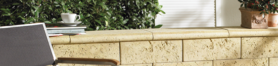 muros em pedra natural reconstituída Traverti - Fabistone