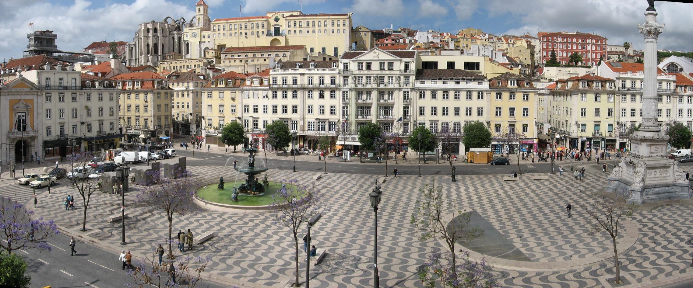 Calçada Portuguesa no Rossio de Lisboa